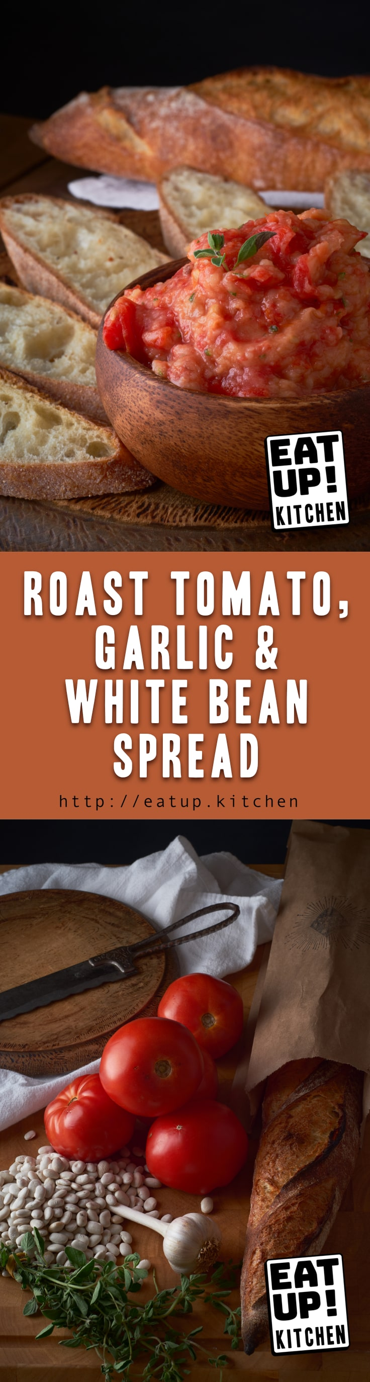 Roast Tomato, Garlic, and White Bean Spread