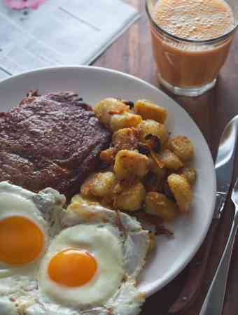 Steak and Eggs with Breakfast Potatoes
