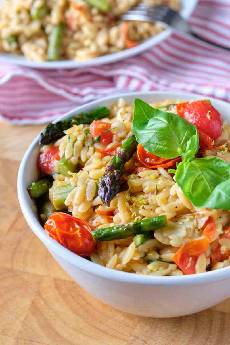 Orzo with Roasted Vegetables
