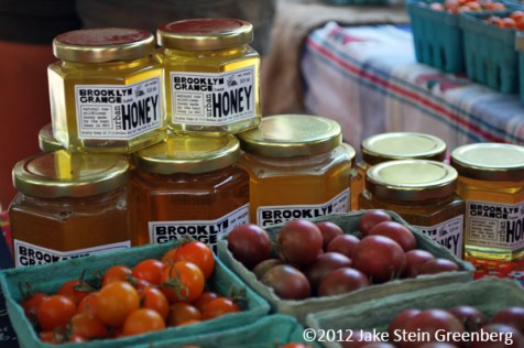"""Rooftop Honey + Cherry Toms"" - Brooklyn Grange, NY    (c)2012 Jake Stein Greenberg"