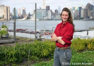 """A Rooftop Farmer's Life"" - Eagle Street Rooftop Farm, NY    (c)2012 Lauren Mandel"
