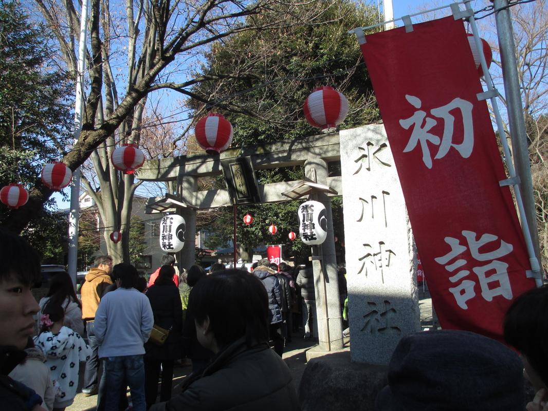 The Torii(鳥居)/gate of Hikawa-Shrine.