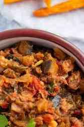Eggplant stew Garden egg stew Aubergine stew