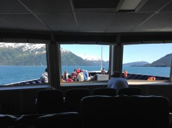 Our view from the main cabin of the ferry. Wow!