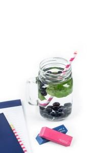 Summer fresh food fruit beverage note blue 2