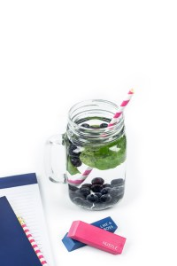 Summer fresh food fruit beverage note blue 2