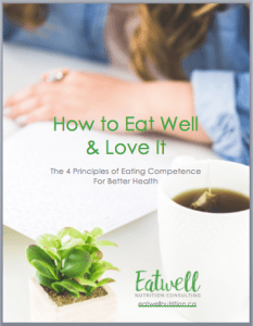 "Free guide: ""How to Eat Well and Love It: The 4 Principles of Eating Competence for Better Health"""