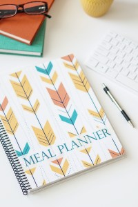 Journal meal planner glasses