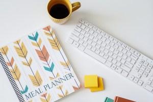 Journal mealplanner coffee