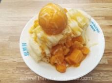 Weekend a Taipei - Yongkang street - shaved mango ice cream
