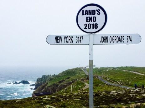 Roadtrip dans les Cornouailles - Land's End