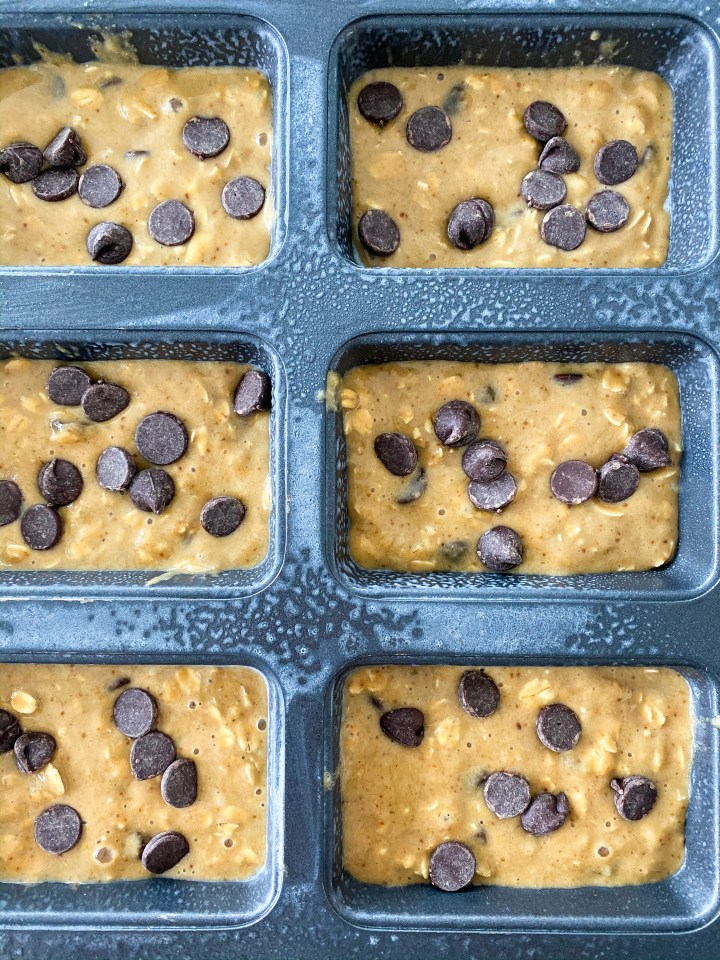 Gluten Free Chocolate Chip Oat Mini Loaf