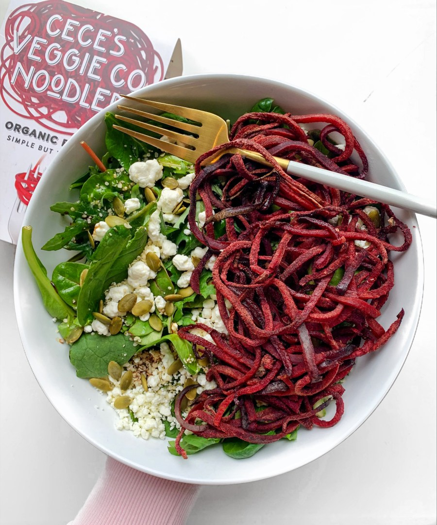 EASY ROASTED BEET + GOAT CHEESE SALAD