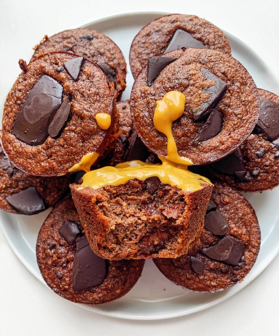 Chocolate Chia Banana Muffins (Gluten Free)