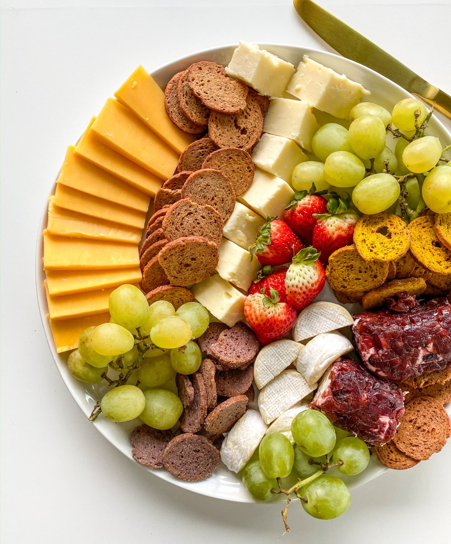 Cheese and Fruit Board with Sprouted Crisps