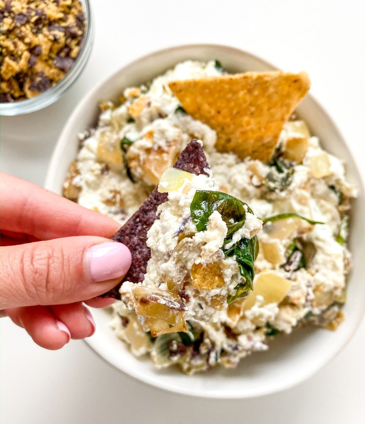 Baked Goat Cheese and Spinach Dip