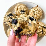 Vegan Blueberry Oatmeal Breakfast Muffins