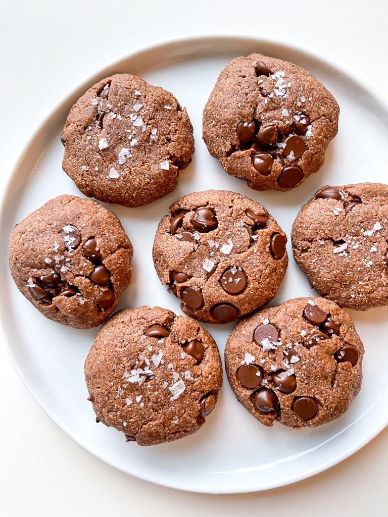 Double Dark Chocolate Sea Salt Cookies