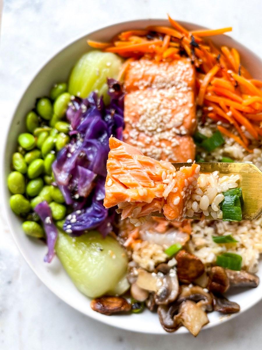 Sweet Sesame Salmon Bowl