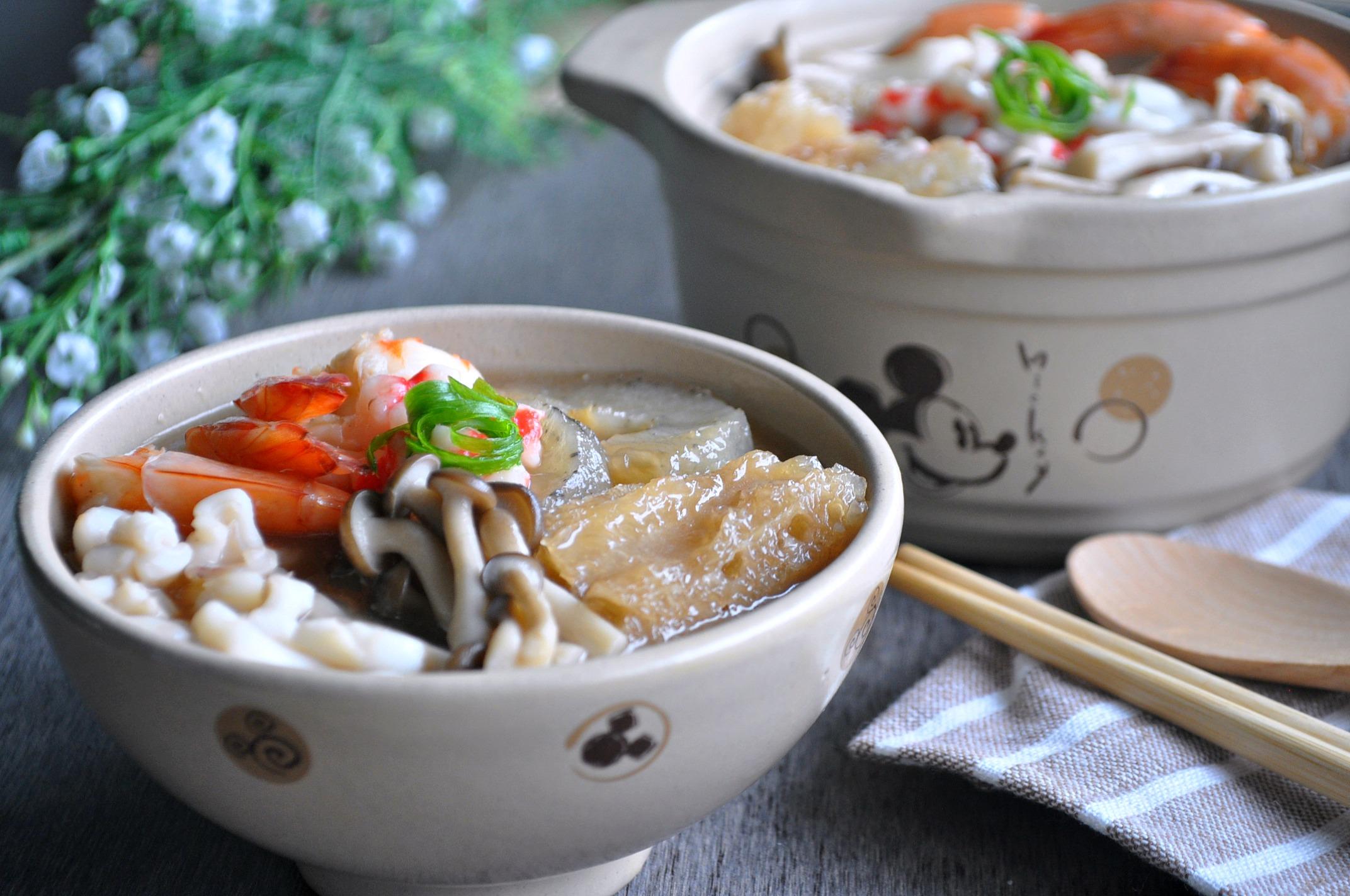 Fish Maw & Sea Cucumber Seafood Broth 什锦鱼鳔海参羹 - Eat What ...