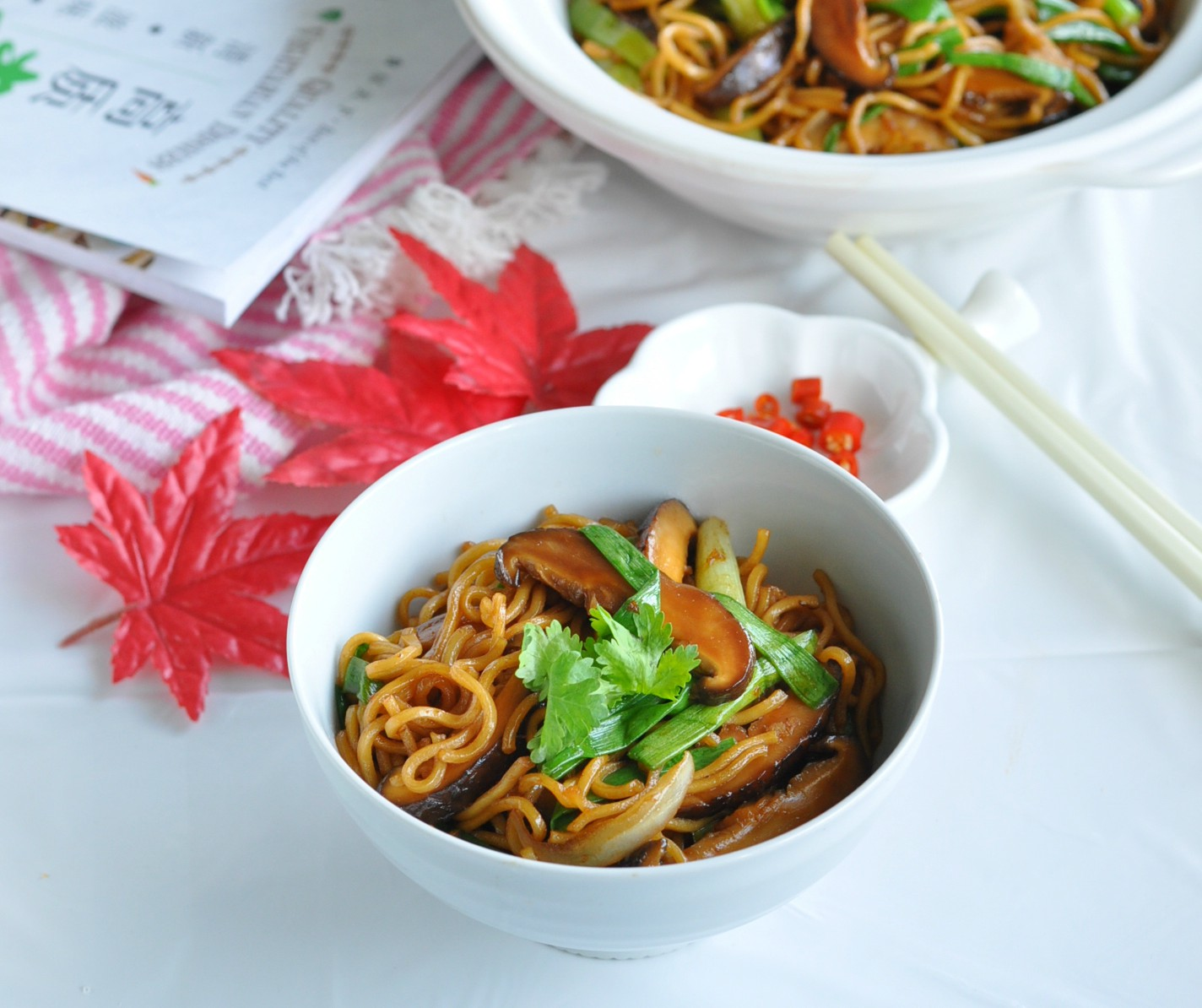 Braised E Fu Noodles With Mushrooms 干烧伊面 Eat What Tonight