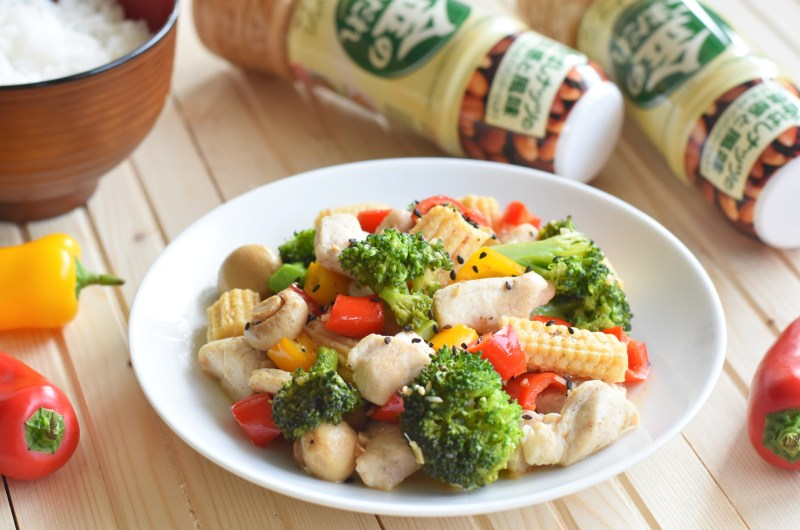Chinese Stir Fry with Chicken & Vegetables in Mizkan Sesame Sauce