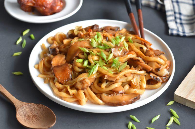 Stir Fry Spicy Udon Noodles