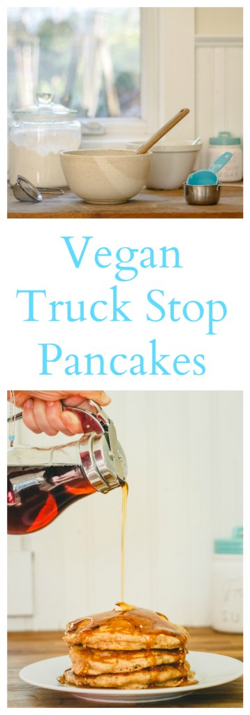 Vegan Truck Stop Pancake Recipe - Fluffy, tender, and delicious!
