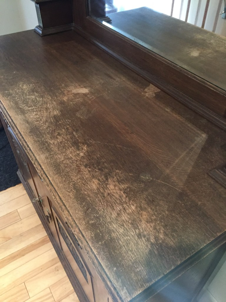 Furniture restoration - wood oil vinegar treatment.