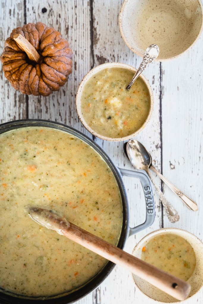 Harvest Vegetable Chowder/Soup (Vegan, Gluten-Free)