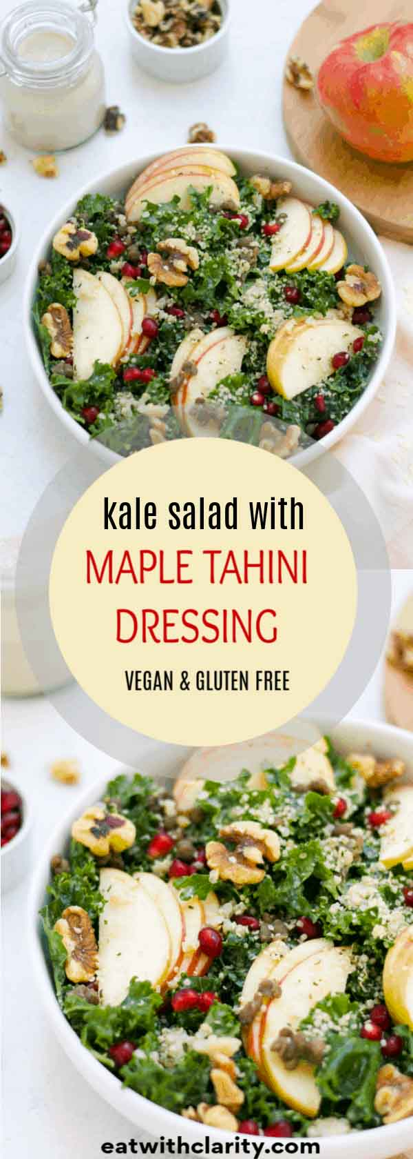 Save this maple tahini dressing recipe to your pinterest boards!