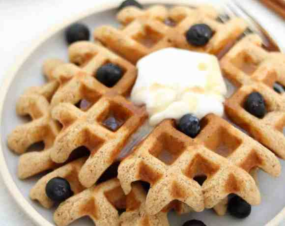 Who wants a bite of these easy grain free waffles?!