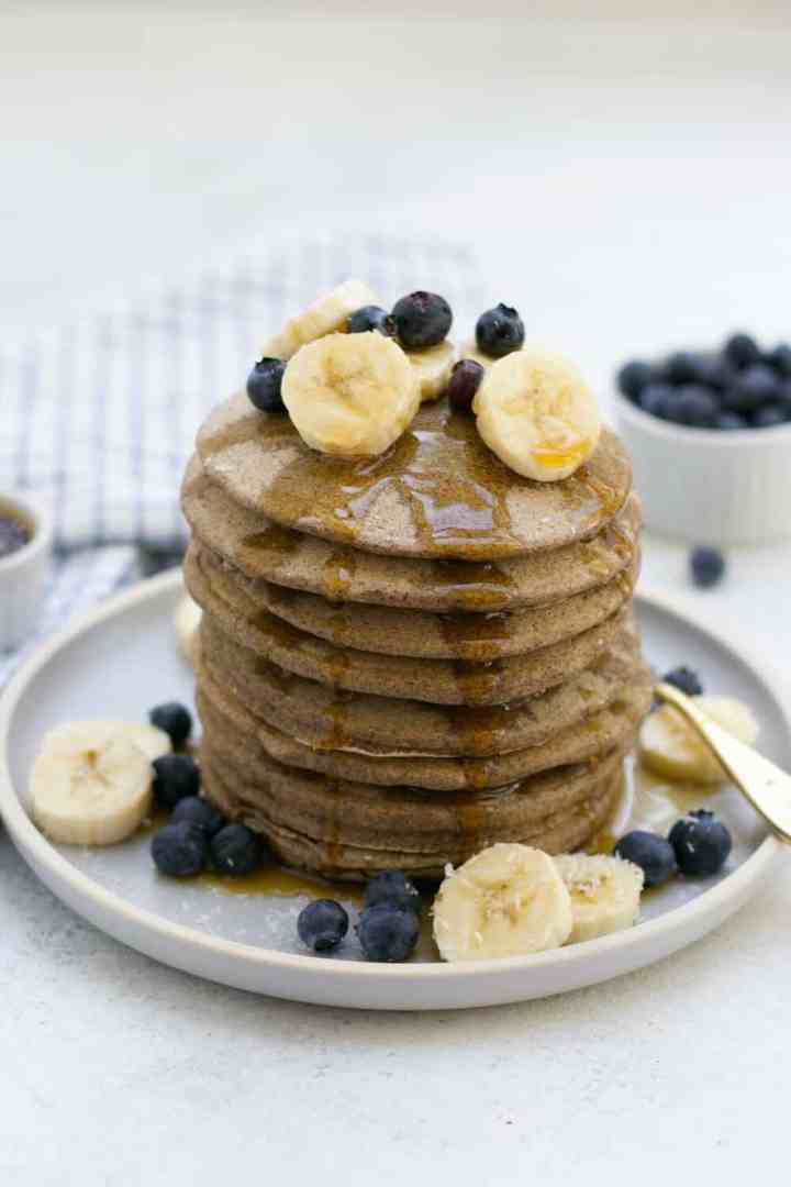 Easy, fluffy, and so delicious, these protein buckwheat pancakes are the perfect weekend recipe!