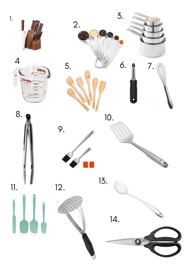 Image with items such as utensils.