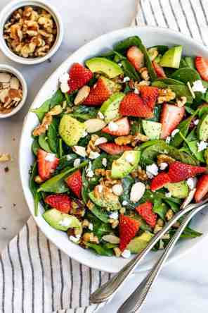 Spinach Strawberry Salad with Poppy Seed Dressing