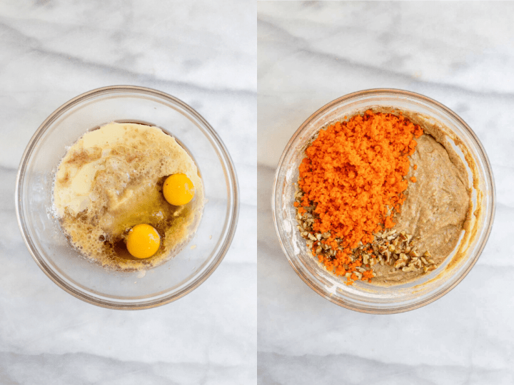 Two images showing how to make the recipe.