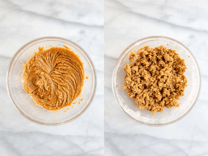 Two images showing how to make this easy recipe.
