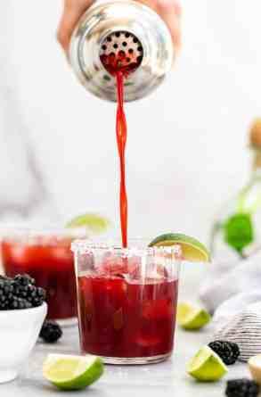 Skinny Blackberry Margarita