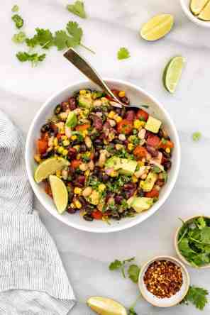 Mexican Inspired Three Bean Salad
