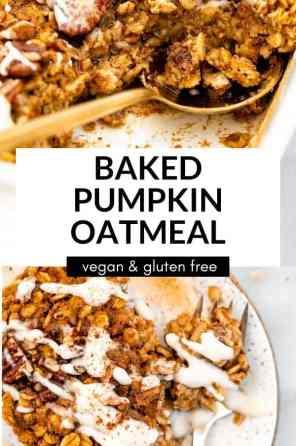pumpkin oatmeal baked