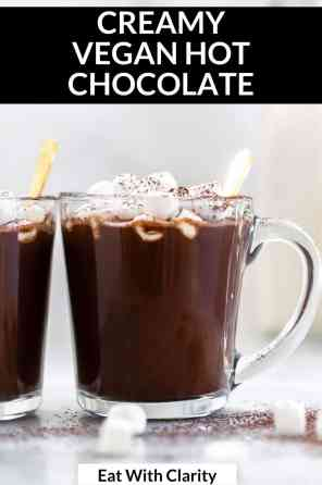 healthy hot chocolate pin