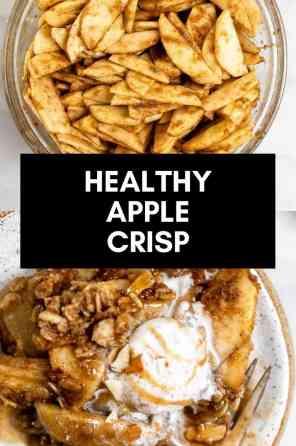 vegan apple crisp pin