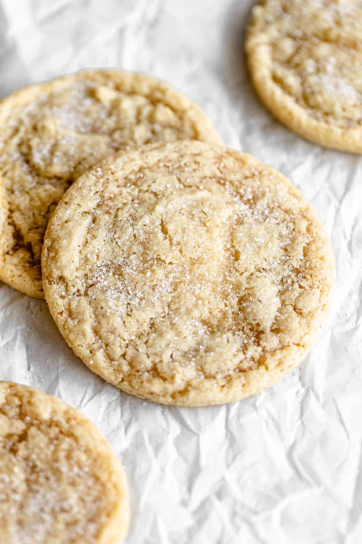 gluten free sugar cookies with sugar on top