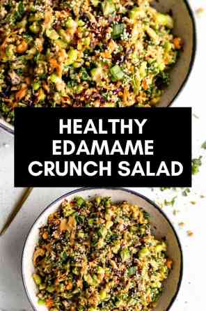 edamame salad in a bowl