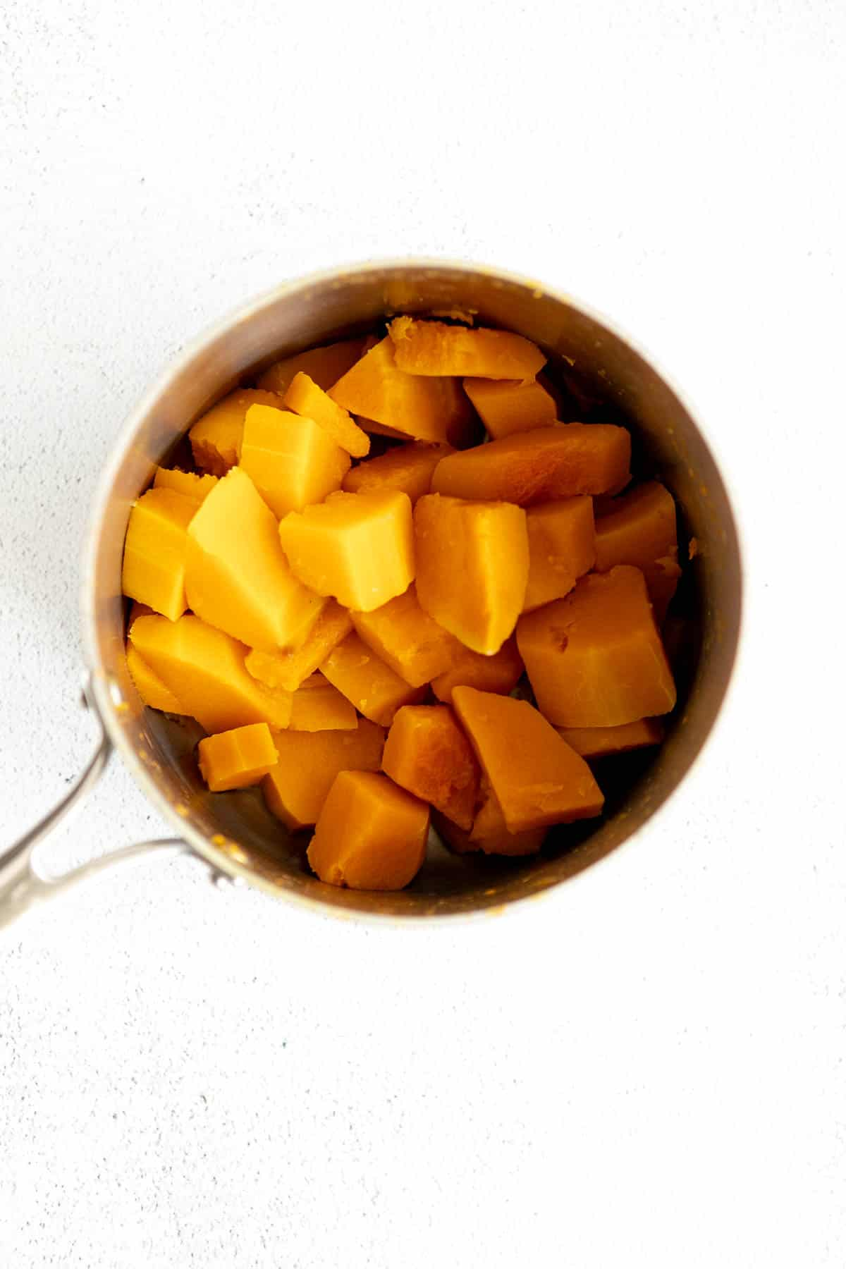 butternut squash in a pot after steaming