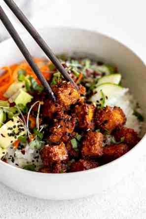 Crispy Gochujang Korean Tofu