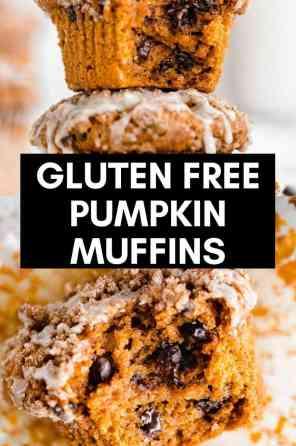 gluten free pumpkin muffins with chocolate