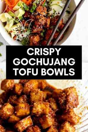 vegan tofu bowls pin
