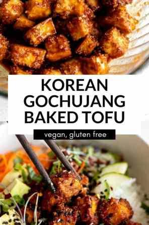 crispy tofu bowls
