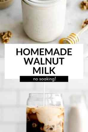 homemade walnut milk pin
